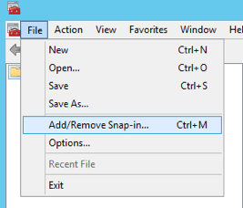 Add Remove Snap-in