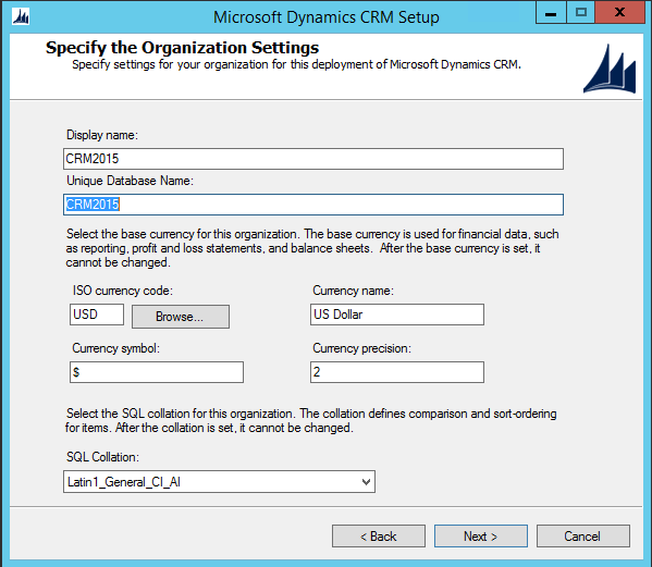 CRM 2015 Default Deployment