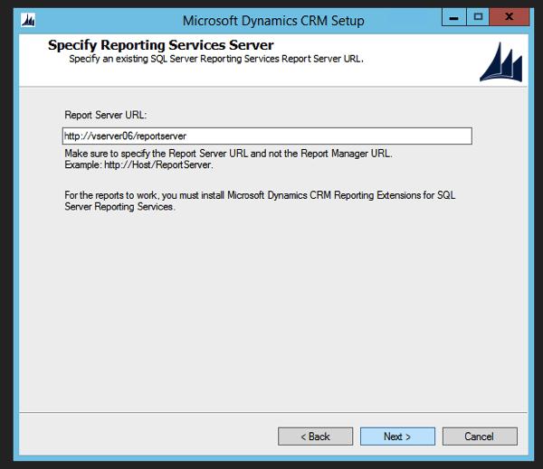 CRM 2015 Report Server