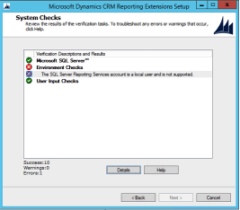 SQL 2014 CRM 2015 Reporting Extension Setup Error.png
