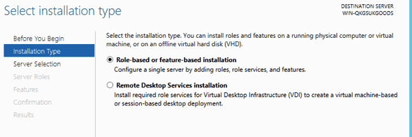 Windows 2012 Install Roles