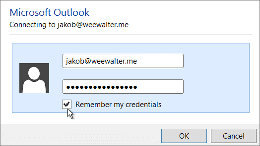 Outlook 365 Keeps Prompting for Password After August 2017