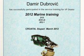 volvo certificate 2012