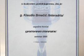 yamaha certificate 2