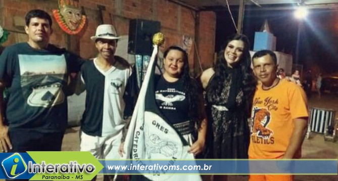 Modelo de Paranaíba é destaque em desfile de escola de samba