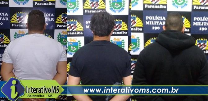 PM encaminha três a delegacia por tráfico em Paranaíba