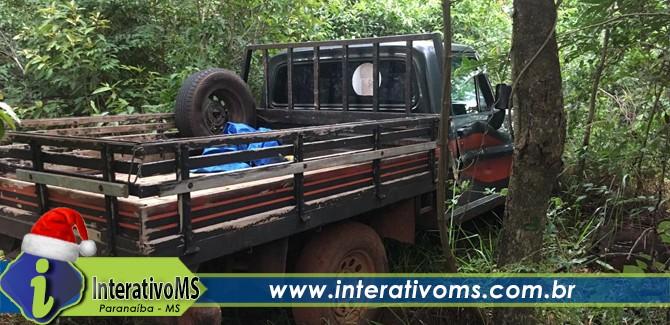 Com uso de Drone, PM de Paranaíba recupera camionete roubada