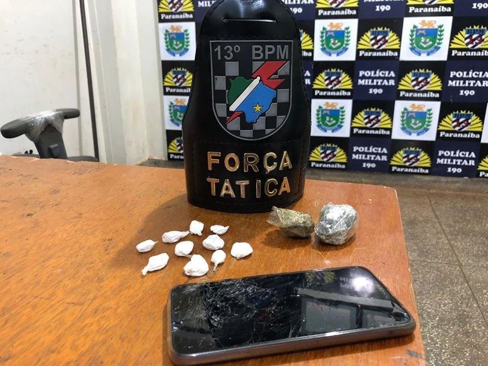 Empresário é preso com maconha e cocaína em Paranaíba