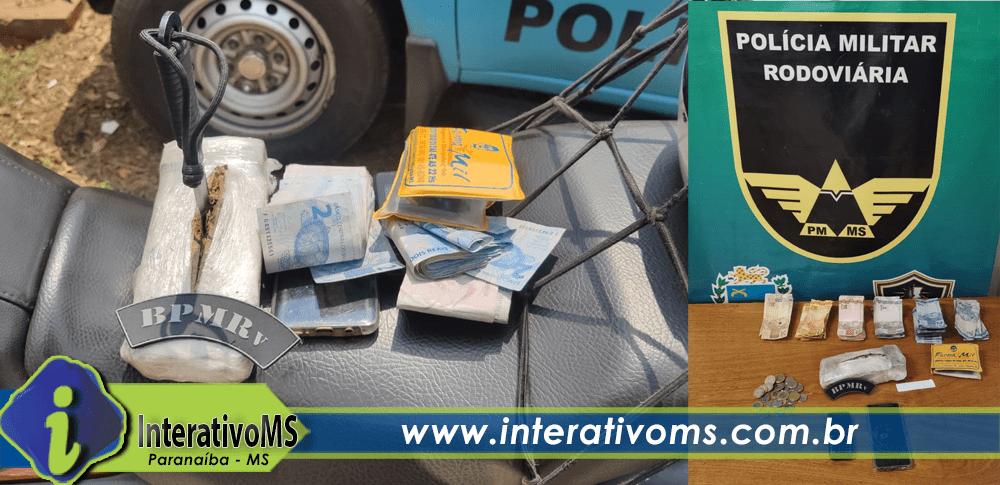 Mototaxista é preso com drogas na MS-497 em Paranaíba