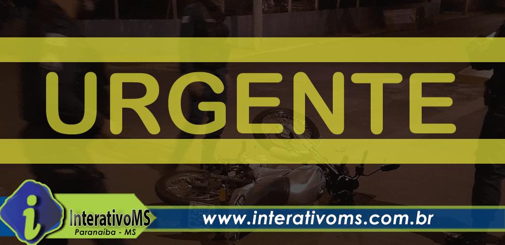 Motociclista fica em estado grave em batida no centro de Paranaíba