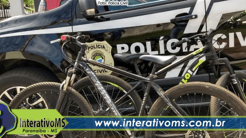 Polícia Civil recupera bicicletas furtadas em Paranaíba