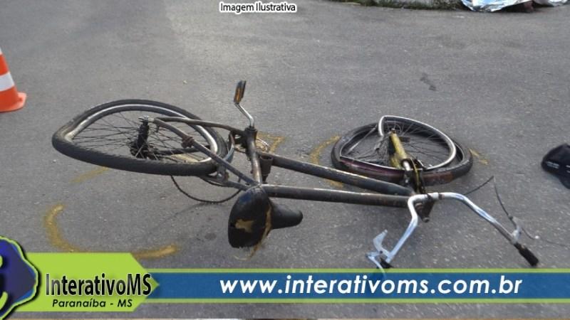 Motorista de camionete foge sem prestar socorro após acidente com bicicleta em Paranaíba