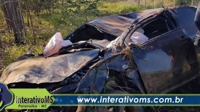Empresário paranaibense sofre acidente na estrada do porto Alencastro