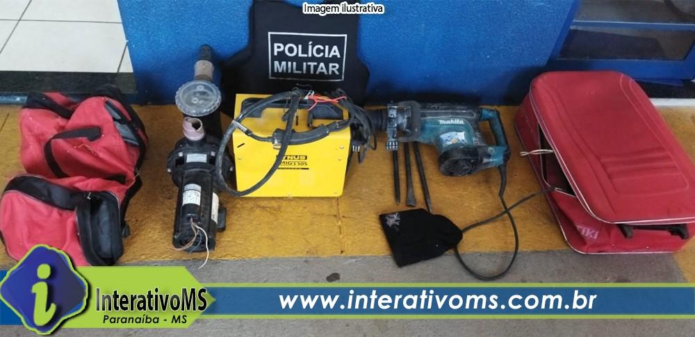 Polícia Militar recupera objetos furtados em Paranaíba