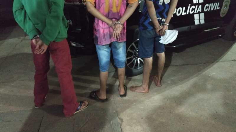 Forças policiais prendem três suspeitos de onda de furtos à residência em Paranaíba