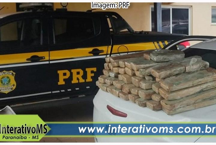 Homem é preso com 61 tabletes de maconha na BR-158 em Paranaíba