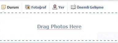 facebook surukle birak