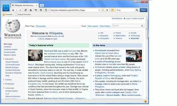 Maxthon Web Tarayıcısı Görünüm