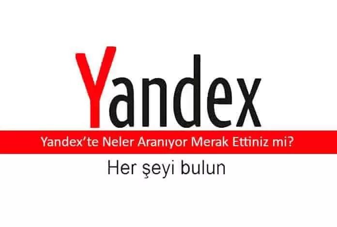 Yandex hangi kelime kaç defa aranıyor