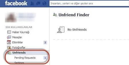 Unfriend Finder Uygulaması