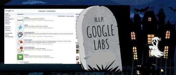 R.I.P Google Labs