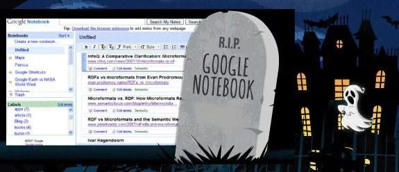 R.I.P Google Notebook