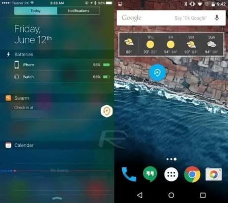 iOS 9 – Android M karşılaştırması