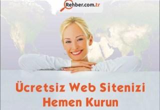 Ücretsiz Web Sitenizi Hemen Kurun