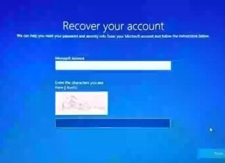 Windows 10'da Giriş Ekranından Unutulan Microsoft Hesabı Parolasını Sıfırla