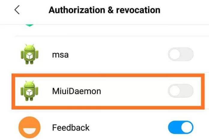 Xiaomi'deki MIUI Daemon uygulaması nedir?