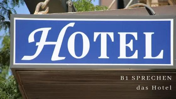 B1 SPRECHEN das Hotel