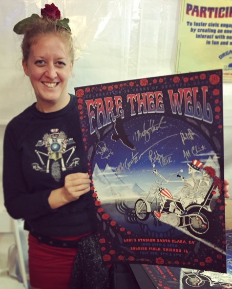 Taylor and her signed poster