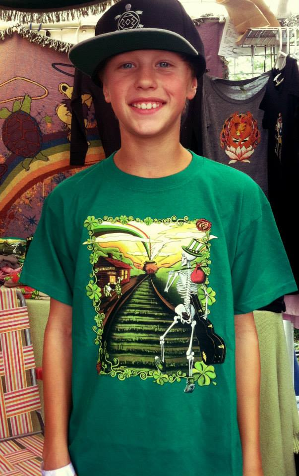 Little Hippie at Gathering of the Vibes 2013 Lucky Sam Youth T