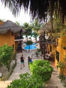 Courtyard of Holbox Dream Hotel