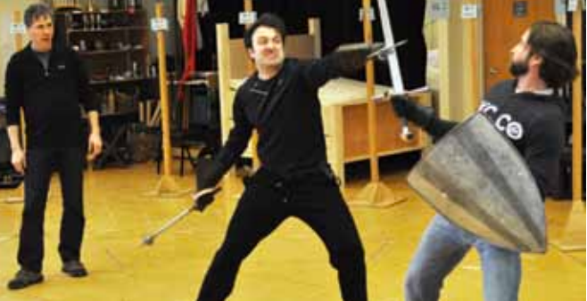 Rep Rehearsal for Henry IV Part 1&2 at Shakespeare Theatre Company, Washington, DC, directed by Michael Kahn with Joel David Santner