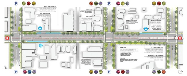 DCP, site plan, streetscape