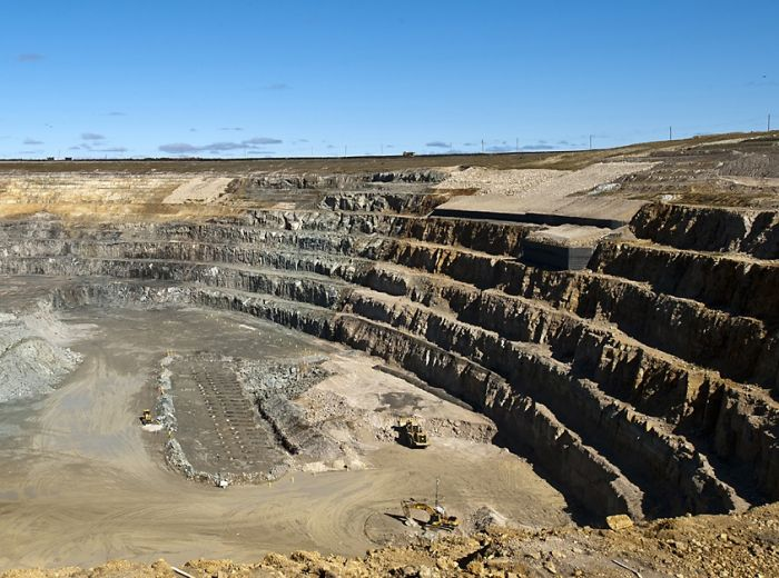 DeBeers' open pit mine near Attawapiskat.