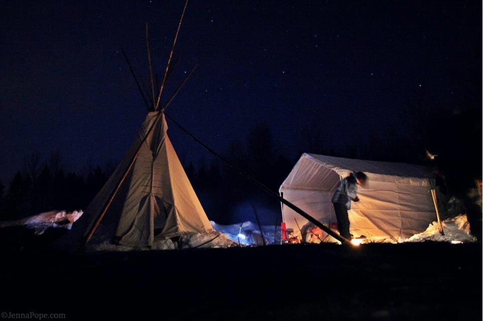 Starry Night at Enbridge Encampment / Photo by Jenna Pope