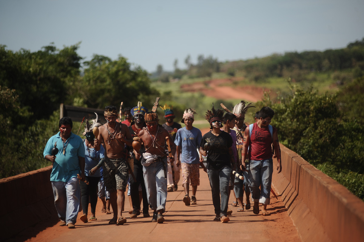 """The Guarani say that they will not comply with recent court decisions and are """"ready to die""""  (Photo: Cimi)"""