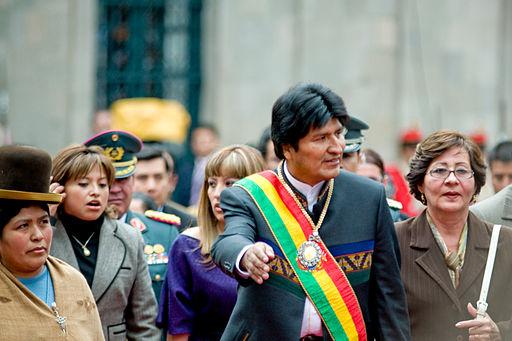 Evo Morales, indigenous president of Bolivia