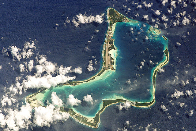 NASA astronaut image of Diego Garcia Atoll, Chagos Archipelago, British Indian Ocean Territory Photo: Image Science & Analysis Laboratory, NASA Johnson Space Center