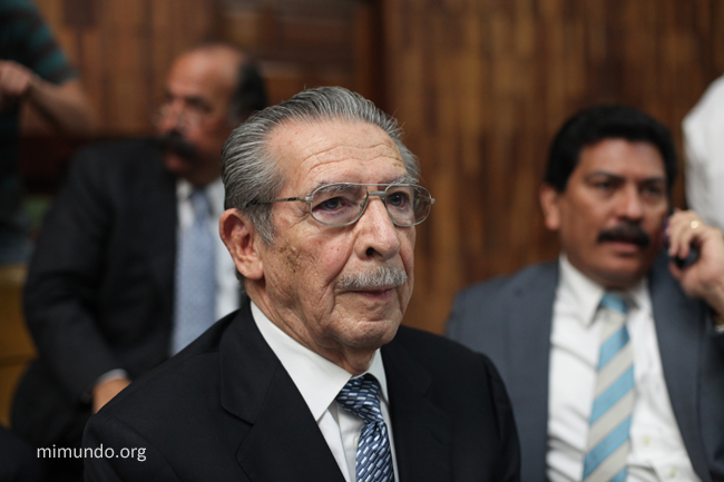 Efrain Rios Montt, on the 26th day of the historic Genocide trial (Photo: mimundo.org)