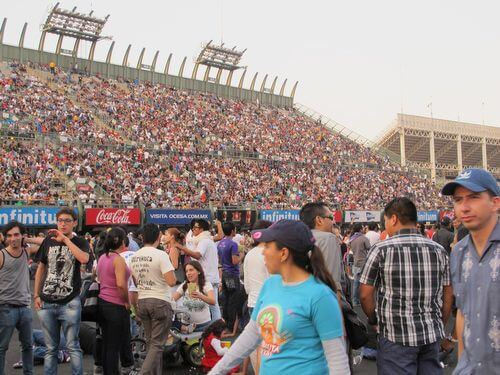 Mexico City's massive Foro Sol was filled to capacity with the daylong Wirikuta Fest.