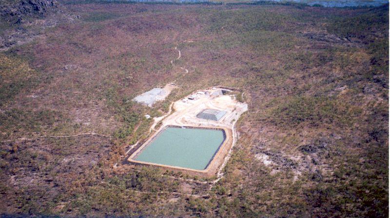 Aerial view of the Ranger Uranium Mine (and Jabilkua uranium deposit) in Kakadu National Park. Photo by and ©2002 Dustin M. Ramsey