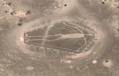 Aztec geoglyph in the Mojave desert