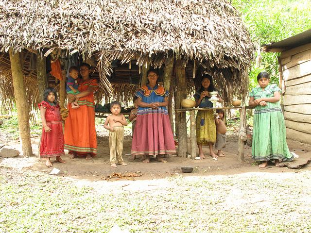 Ngobe women and Children