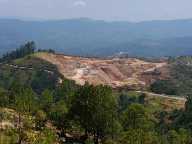 A view of the Marlin mine, taken from the road from San Miguel Ixtahuacán to Sipacapa. Photo COPAE