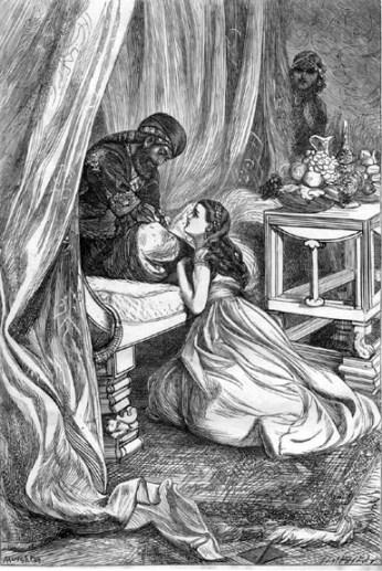 """The Sultan Pardons Scheherazade"", by Arthur Boyd Houghton (1836-1875)"