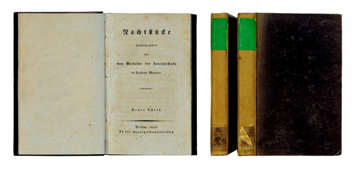 1817 short story collection Die Nachtstücke (The Night Pieces), Berlin.