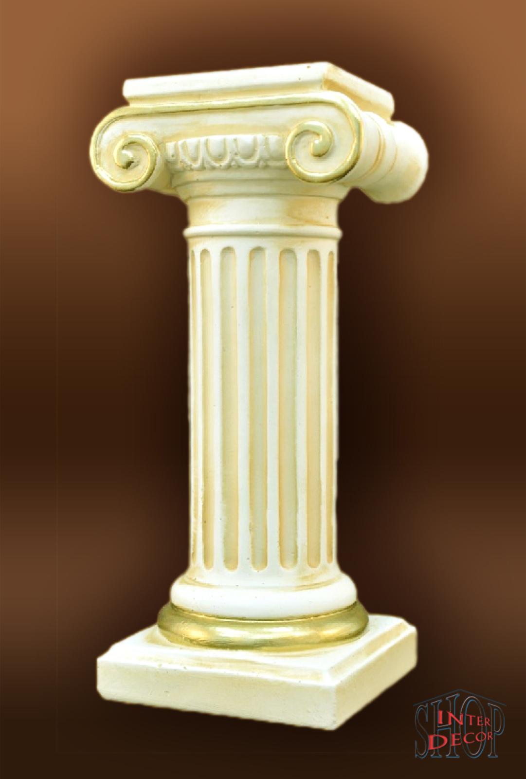 Griechische Sule Antik Blumensule Dekosule Sulen Podest Kunstharz  eBay